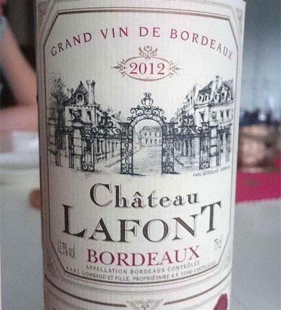 Образец из подвала - Chateau Lafont Grand Vin de Bordeaux 2012