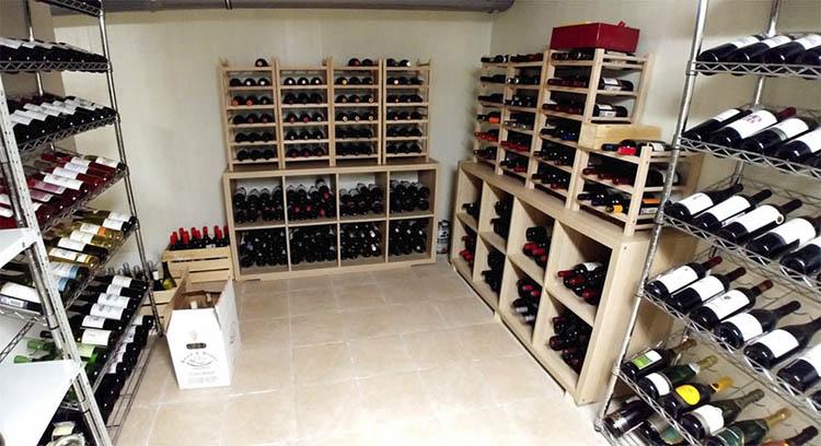 Хранение вина в подвальном помещении